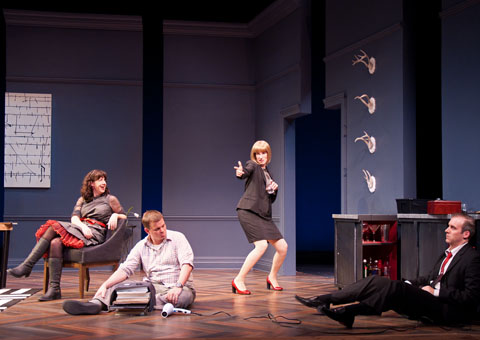 """God of Carnage"" makes it Wisconsin première at Peninsula Players through Oct. 16, featuring actors from left Maggie Carney, Joe Foust, Karen Janes Woditsch and Kevin McKillip."