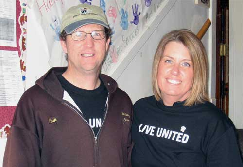 United Way Day of Caring 2011 volunteers Erik and Kirsten Foss
